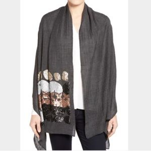 Echo Abstract 100% Wool Sequin Scarf
